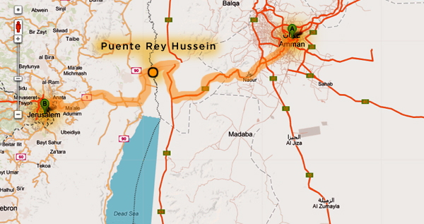 Frontera Jordania Palestina